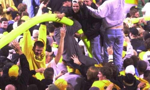 That time Iowa fans tore down Minnesota's goal posts