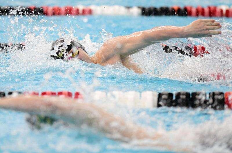 Photos: Iowa high school boys' swimming district meet at Linn-Mar
