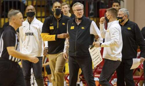 Iowa men's basketball has another substantial second-half lead and game…