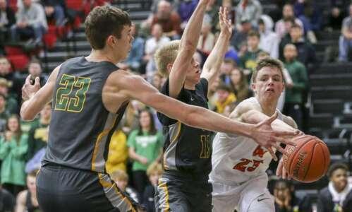 Photos: High school boys' basketball—Linn-Mar vs. Cedar Rapids Kennedy