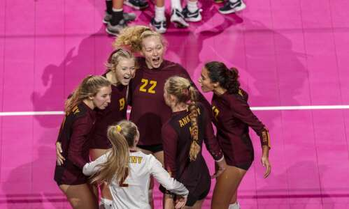 Photos: Ankeny vs. Pleasant Valley, Iowa Class 5A state volleyball…