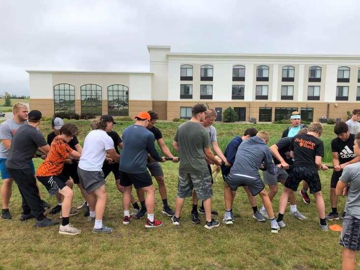 Washington visits Iron Sharpens Iron wrestling camp