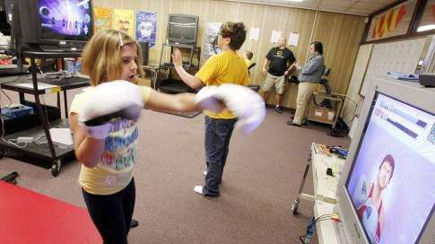 School's game room gets non-athletic kids exercising