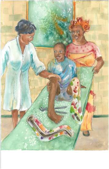 """Retired Iowa professor writes book about young boy with clubfoot, """"Lucky's Feet"""""""