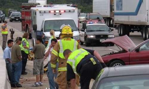 Crash slows southbound Interstate 380 traffic