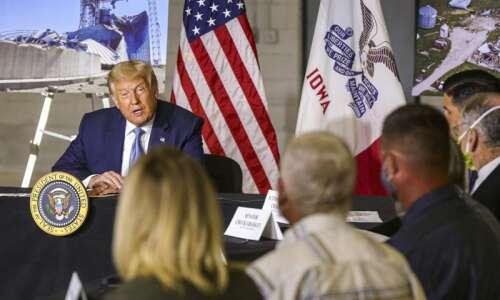 Thank goodness Trump didn't stay long in storm-ravaged Cedar Rapids