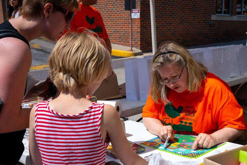 Photos from Chalk the Walk Festival Saturday in Mount Vernon