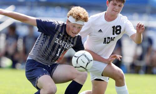 Former goalkeeper Lincoln Oakley scores for Xavier in state semifinals