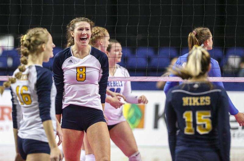 Photos: Gladbrook-Reinbeck vs Burlington Notre Dame, Iowa Class 1A state volleyball final