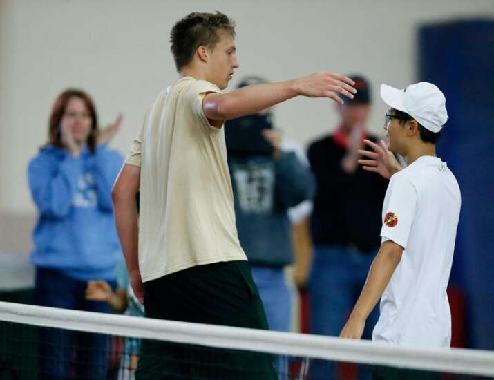 West's Jung wins historic state singles matchup