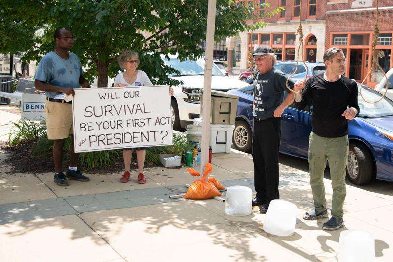 Iowa protesters wore nooses to make statement on climate change. Now they are apologizing.