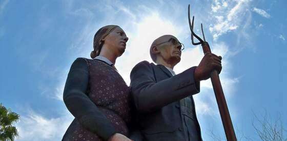 American Gothic arrives in downtown Mesa, Arizona