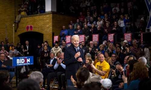 Biden in Cedar Rapids calls his plans 'significantly progressive'