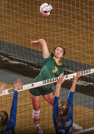 Photos: Fort Madison Holy Trinity vs. Council Bluffs St. Albert, Iowa Class 1A state volleyball quarterfinals