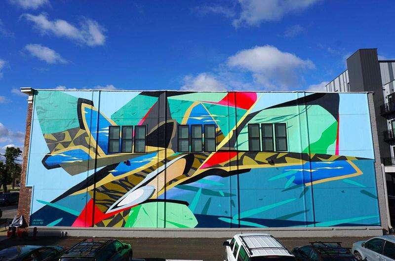 Mural adds dash of color to Kingston Village in southwest Cedar Rapids
