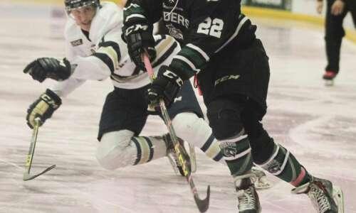 Cedar Rapids RoughRiders alumni in college hockey