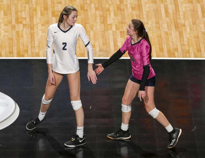 Photos: Pleasant Valley vs. Cedar Falls, Iowa Class 5A state volleyball quarterfinals