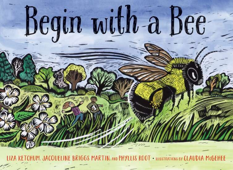 Eastern Iowa author and illustrator collaborate on new bee book, 'Begin with a Bee'