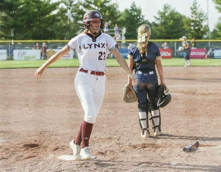 Photos: North Linn vs. Iowa City Regina, Class 2A Iowa high school state softball quarterfinals