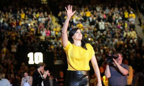 Megan Gustafson can't watch every Iowa women's basketball game from…