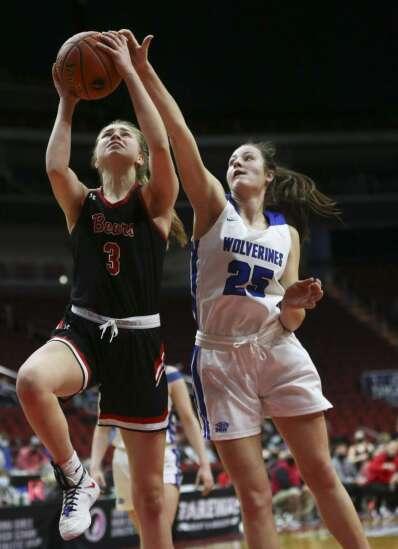 Photos: West Branch vs. Dike-New Hartford, Iowa Class 2A girls' state basketball semifinals