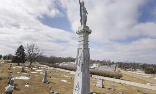 Springville Revolutionary War monument, damaged in tornado and derecho, now…