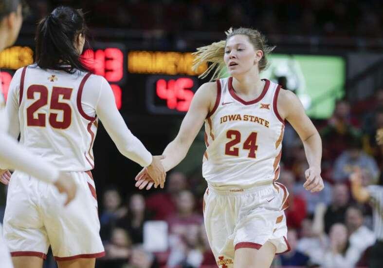 Ashley Joens returns from mid-game injury to help Iowa State women's basketball beat Oklahoma