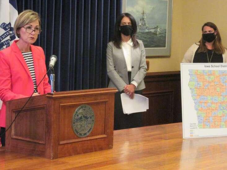 Gov. Kim Reynolds defends lack of face mask mandate