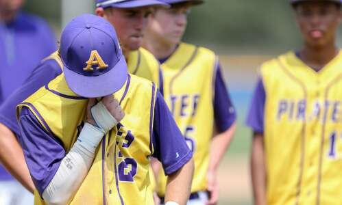 Photos: Alburnett vs. Council Bluffs-St. Albert—Iowa Class 1A state baseball…