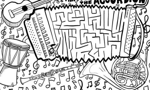 Musical Maze: Can you find your way through the accordion?
