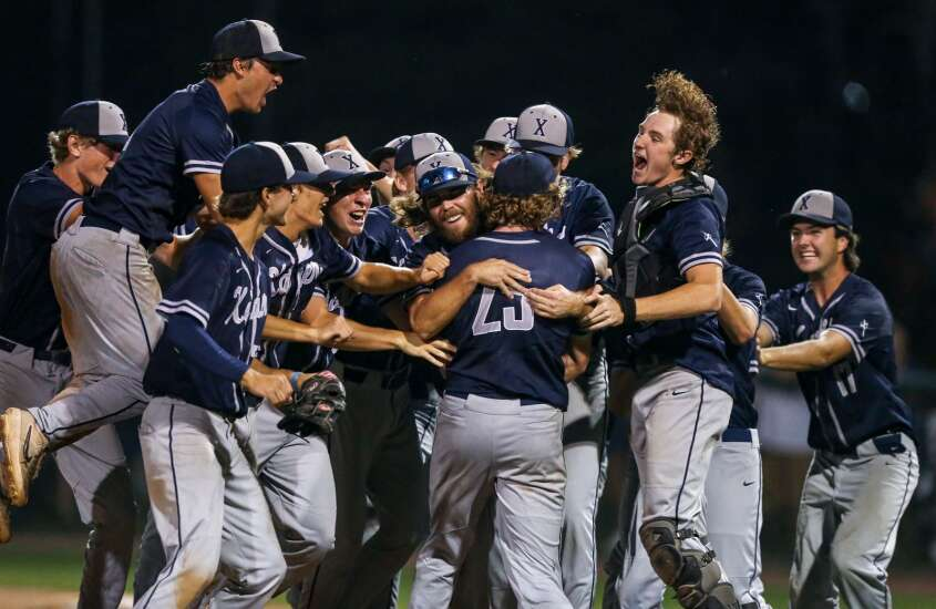 Cedar Rapids Xavier in control in substate baseball final victory over Solon