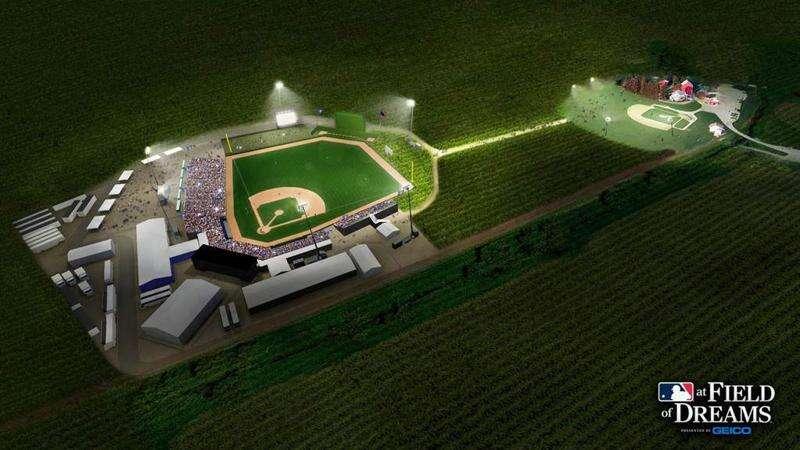 Construction continues on Field of Dreams ballpark despite postponed MLB season