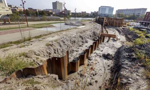 Construction starts Monday on projects for Cedar Rapids flood control…