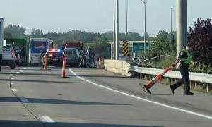 Southbound Interstate 380 traffic slows after crash