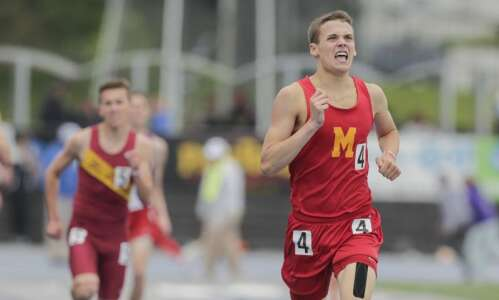 Marion breaks through, wins state track championship