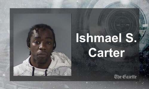 IC man set fire at door, trapping woman, police say