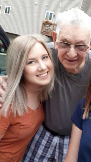 Young Iowa City volunteer's close relationship with her grandfather inspires her to help older Iowans