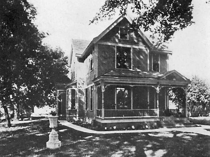 This home was built by a Union army veteran
