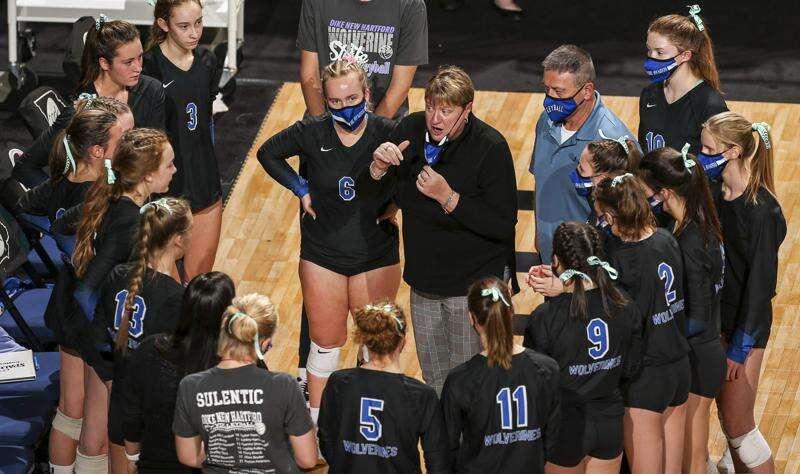 Photos: Dike-New Hartford vs. Sumner-Fredericksburg, Iowa Class 2A state volleyball quarterfinals