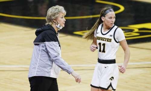 Iowa women's basketball player Megan Meyer enters transfer portal