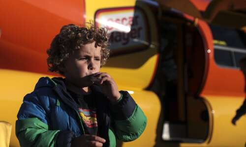 The Wienermobile is in Iowa, giving out glow-in-the-dark Weenie Whistles