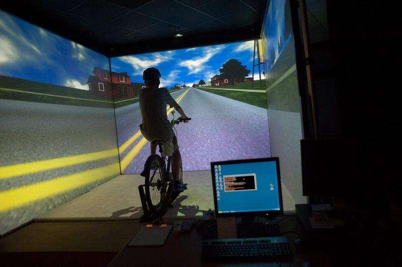 UI virtual lab to focus on texting pedestrians
