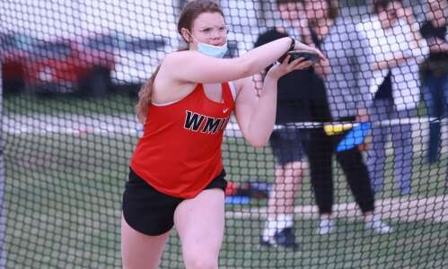 Buffington rebuffs all in shot put victory