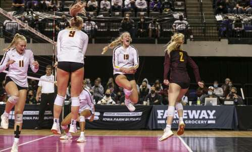 Photos: Ankeny vs Iowa City Liberty Class 5A state volleyball…
