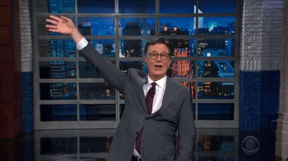 Stephen Colbert had a take on last Saturday's Kinnick Stadium Wave