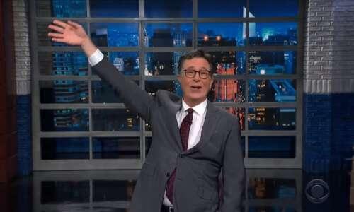 Stephen Colbert had a take on last Saturday's Kinnick Wave