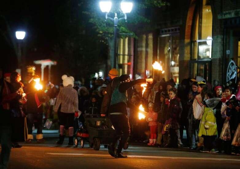 An October treat: CR's first Halloween parade draws throngs to NewBo, Czech Village