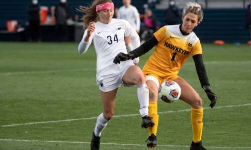 Iowa soccer leaning on youth going into 3rd NCAA tournament