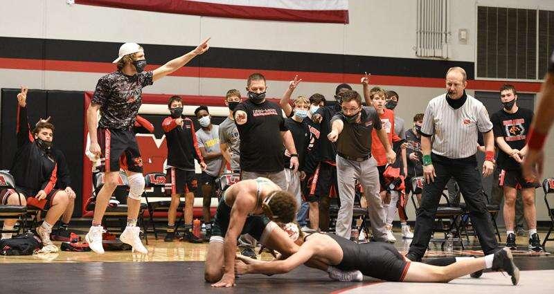Photos: Dubuque Hempstead vs. Linn-Mar, Iowa Class 3A wrestling regional duals