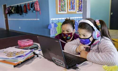 Iowa City families find online learning help, child care in…